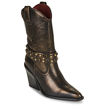 Sko Dame Høje støvletter Bronx NEW KOLE Sort / Guld