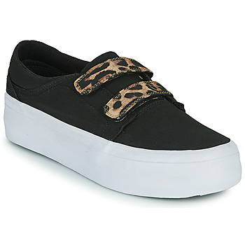 Sko Dame Høje sneakers DC Shoes TRASE PLATEFORM V Sort / Leopard