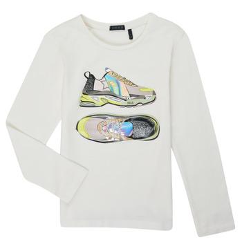textil Pige Langærmede T-shirts Ikks XR10172 Hvid