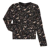 textil Pige Langærmede T-shirts Ikks XR12052 Sort