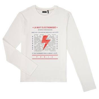 textil Dreng Langærmede T-shirts Ikks XR10023 Hvid