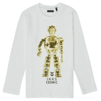 textil Dreng Langærmede T-shirts Ikks XR10233 Hvid