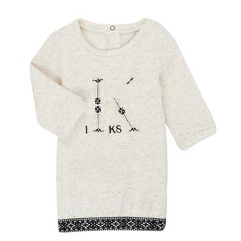 textil Pige Korte kjoler Ikks XR30180 Beige