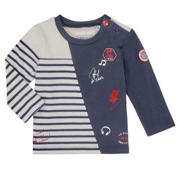 textil Dreng Langærmede T-shirts Ikks XR10041 Hvid
