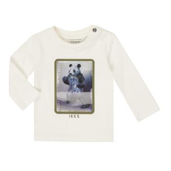 textil Dreng Langærmede T-shirts Ikks XR10101 Hvid