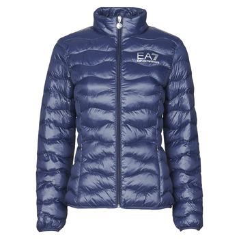 textil Dame Dynejakker Emporio Armani EA7 TRAIN CORE LADY W LT ECO DOWN JCKT Marineblå