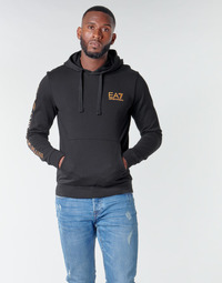 textil Herre Sweatshirts Emporio Armani EA7 TRAIN LOGO SERIES M HOODIE RN COFT Sort