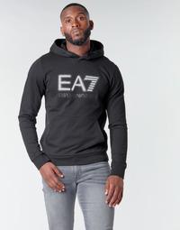 textil Herre Sweatshirts Emporio Armani EA7 TRAIN VISIBILITY M HOODIE RN COFT Sort