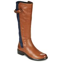 Sko Dame Chikke støvler Caprice 25504-387 Cognac / Blå