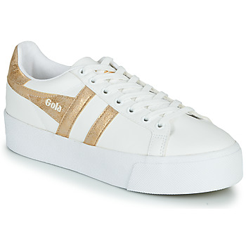 Sko Dame Lave sneakers Gola ORCHID PLATEFORM Hvid / Guld