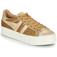 Sko Dame Lave sneakers Gola ORCHID PLATEFORM SAVANNA Guld / Gepard