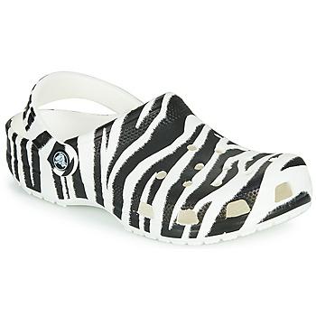 Sko Dame Træsko Crocs CLASSIC ANIMAL PRINT CLOG Zebra