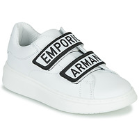 Sko Børn Lave sneakers Emporio Armani XYX007-XCC70 Hvid / Sort