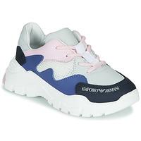 Sko Dreng Lave sneakers Emporio Armani XYX008-XOI34 Hvid / Blå