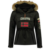 textil Dreng Parkaer Geographical Norway BARMAN BOY Sort