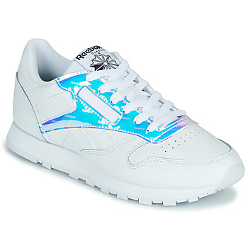 Sko Dame Lave sneakers Reebok Classic CL LTHR Hvid / Iriserende
