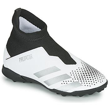 Sko Børn Fodboldstøvler adidas Performance PREDATOR 20.3 LL TF Hvid