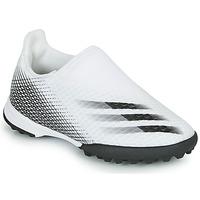 Sko Børn Fodboldstøvler adidas Performance X GHOSTED.3 LL TF J Hvid