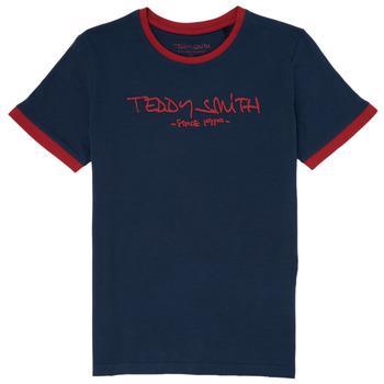 textil Dreng T-shirts m. korte ærmer Teddy Smith TICLASS 3 Marineblå