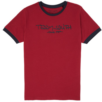 textil Dreng T-shirts m. korte ærmer Teddy Smith TICLASS 3 Rød
