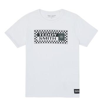 textil Dreng T-shirts m. korte ærmer Teddy Smith VANY Hvid