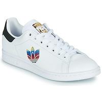 Sko Dame Lave sneakers adidas Originals STAN SMITH W Hvid / Logo