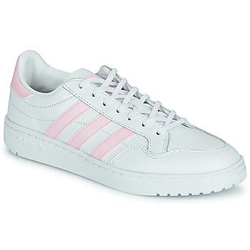 Sko Dame Lave sneakers adidas Originals TEAM COURT W Hvid / Pink