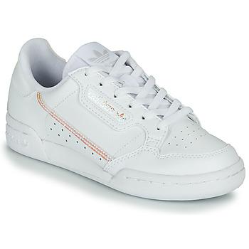 Sko Pige Lave sneakers adidas Originals CONTINENTAL 80 J Hvid / Iriserende