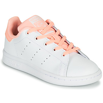 Sko Pige Lave sneakers adidas Originals STAN SMITH C Hvid / Pink