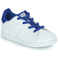 Sko Dreng Lave sneakers adidas Originals STAN SMITH EL I Hvid / Blå