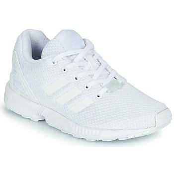 Sko Børn Lave sneakers adidas Originals ZX FLUX C Hvid