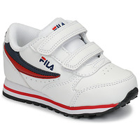 Sko Børn Lave sneakers Fila ORBIT VELCRO INFANTS Hvid / Blå