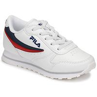 Sko Børn Lave sneakers Fila ORBIT LOW KIDS Hvid / Blå