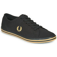 Sko Herre Lave sneakers Fred Perry KINGSTON TWILL Sort / Guld