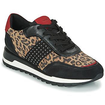 Sko Dame Lave sneakers Geox TABELYA Leopard / Sort