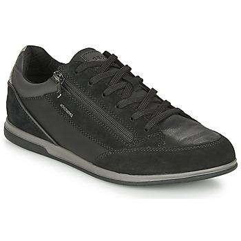 Sko Herre Lave sneakers Geox RENAN Sort