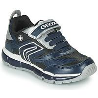 Sko Dreng Lave sneakers Geox ANDROID Marineblå / Sølv