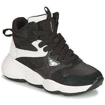 Sko Pige Høje sneakers Geox BUBBLEX Sort / Hvid