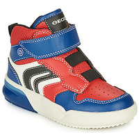 Sko Dreng Høje sneakers Geox GRAYJAY Rød / Blå