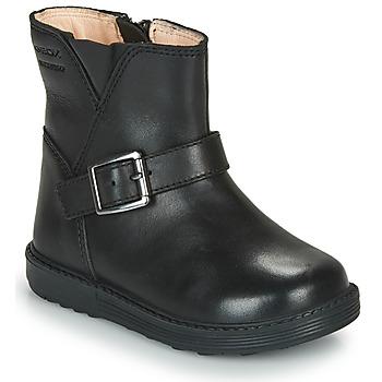 Sko Pige Chikke støvler Geox HYNDE WPF Sort