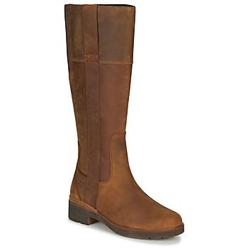 Sko Dame Chikke støvler Timberland GRACEYNTALLSIDEZIPWP Brun