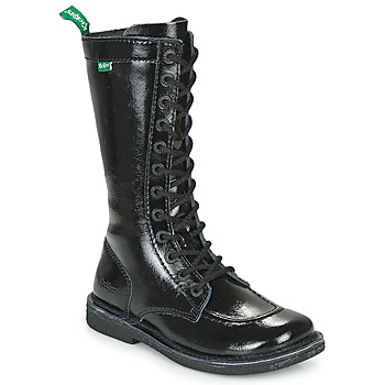 Sko Dame Chikke støvler Kickers MEETKIKNEW Sort / Lakeret