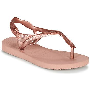 Sko Pige Klipklapper  Havaianas LUNA MINI ME Pink