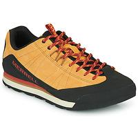 Sko Herre Lave sneakers Merrell CATALYST SUEDE Kamel / Sort