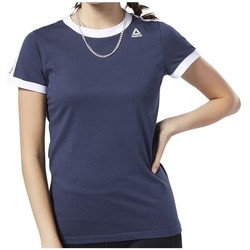 textil Dame T-shirts m. korte ærmer Reebok Sport Linear Logo Tee Flåde
