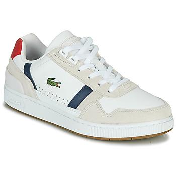 Sko Dame Lave sneakers Lacoste T-CLIP 0120 2 SFA Hvid / Marineblå / Rød