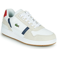 Sko Herre Lave sneakers Lacoste T-CLIP 0120 2 SMA Hvid / Marineblå / Rød