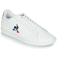Sko Herre Lave sneakers Le Coq Sportif COURTSET Hvid / Cognac