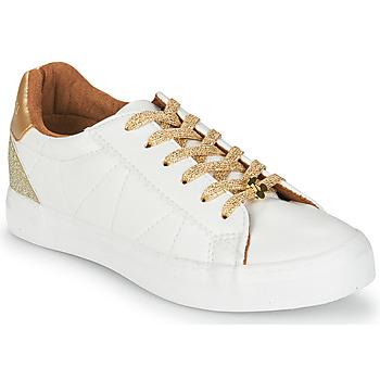 Sko Dame Lave sneakers Le Temps des Cerises VIC Hvid / Guld