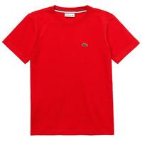 textil Dreng T-shirts m. korte ærmer Lacoste TJ1442-F8M-J Rød